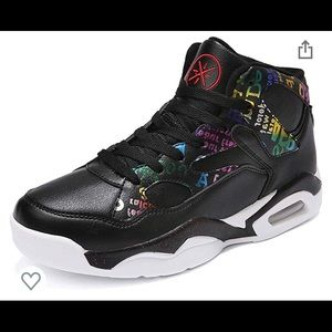 HIGH TOP BLACK/colorful SNEAKERS!!!! Be different!